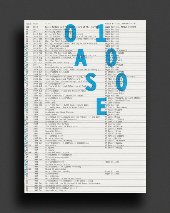 Oase 100 The Architecture Of The Journal World Food Books