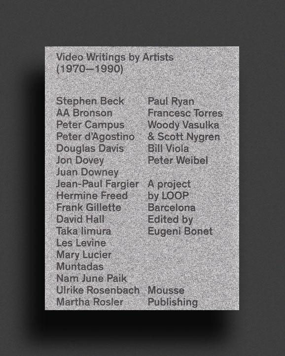 b7305e50d VIDEO WRITINGS BY ARTISTS (1970-1990) | World Food Books